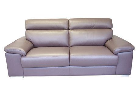 Savoy sofa z fioletowej skóry