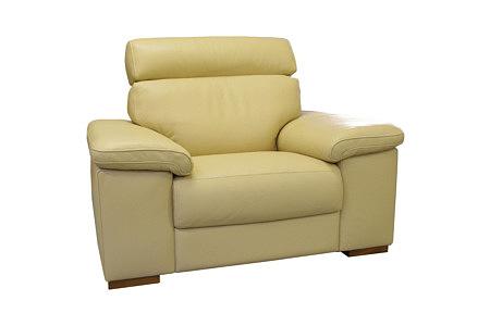 Savoy wygosny fotel skórzany do salonu