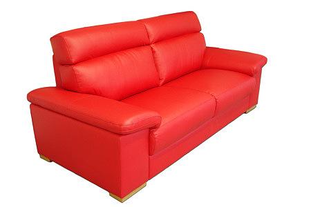 Savoy wypoczynek skórzany czerwony