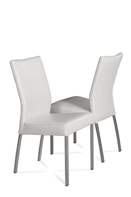 Skip1 białe krzesło nowoczesne do salonu jadalni metalowe nogi