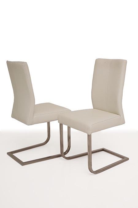 Skip3 białe nowoczesne krzesło na metalowej płozie