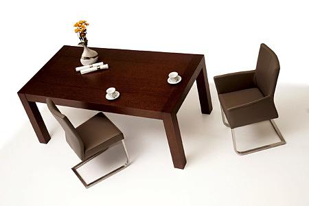 Skip3 stół drewniany z krzesłami metalowymi do nowoczesnej jadalni salonu