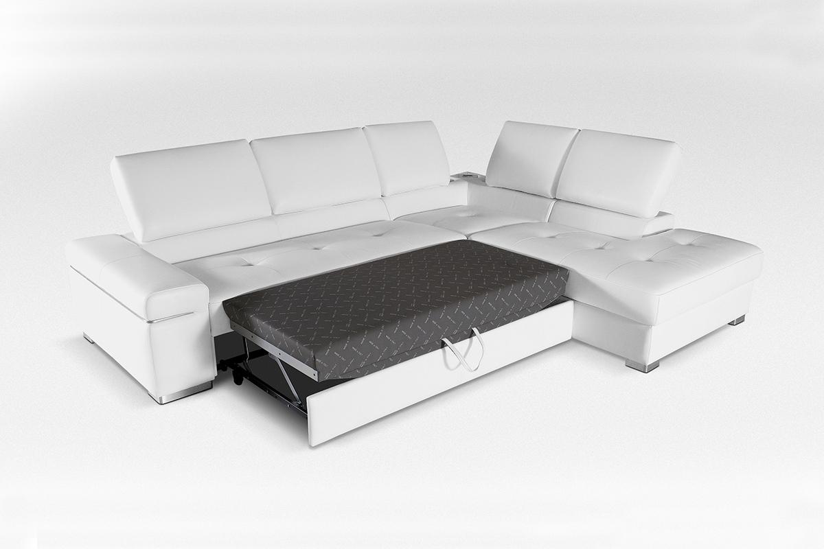 sofa narożnik ze spaniem okazjonalnym
