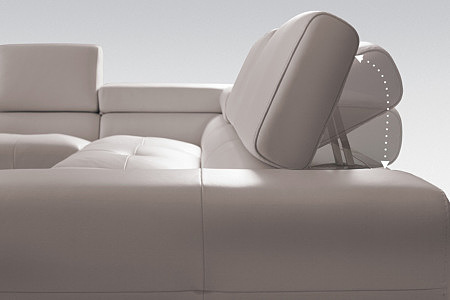 sofa regulowany zagłówek