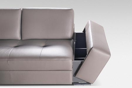 sofa ze schowkiem w boku