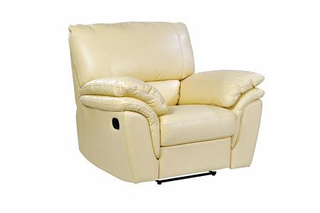 Soft fotel skórzany do salonu z funkcją relax