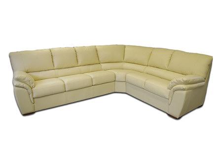 Soft meble nowoczesne narożnik skórzany sofa