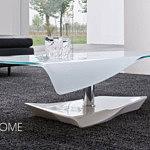 spazio nowoczesna ława ze szkła białego matowego