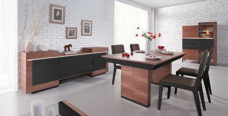 stół nowoczesny future line kolor czarny brązowy