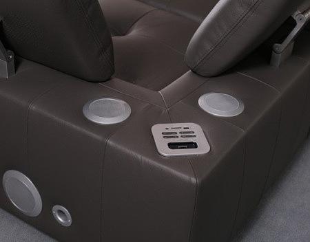 system audio wbudowany w sofę
