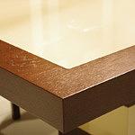 tau stół z blatem ze szkła lacobel