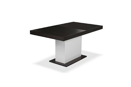 Tau stół z czarnym blatem styl modernistyczny biała stopa