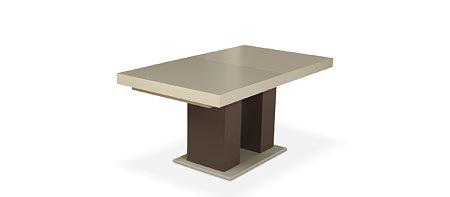 Tau2 modernistyczny nowoczesny stół z białym grubym blatem