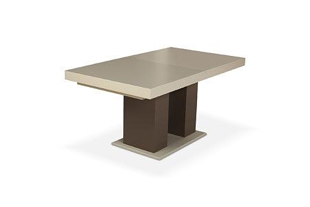 Tau2 nowoczesny stół na jednej nodze biały blat