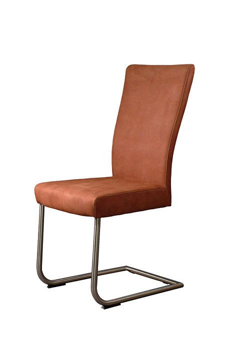Toby krzesło podstawa metalowa skórzane