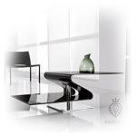 Tonin elegancka nowoczesna ława szklana czarna