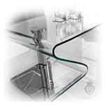 Tonin ława szklana ze szkła bezbarwnego
