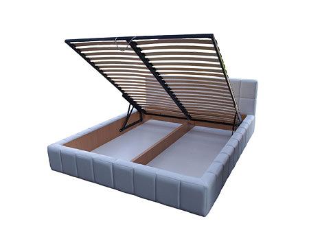 torino łóżko do sypialni niebieskie stelaż
