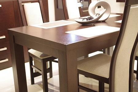 tosca stół do salonu dąb białe krzesła
