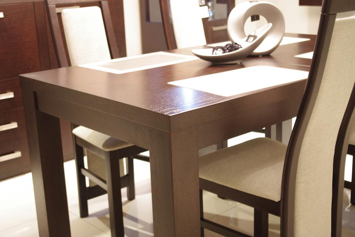 Tosca Stół Do Salonu Dąb Białe Krzesła Tc Meble
