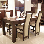 Tosca stół do salonu dąb białe pełne oparcia krzeseł