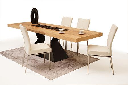 Trinity aranżacja nowoczesnej jadalni krzesła metalowe stół na jednej nodze