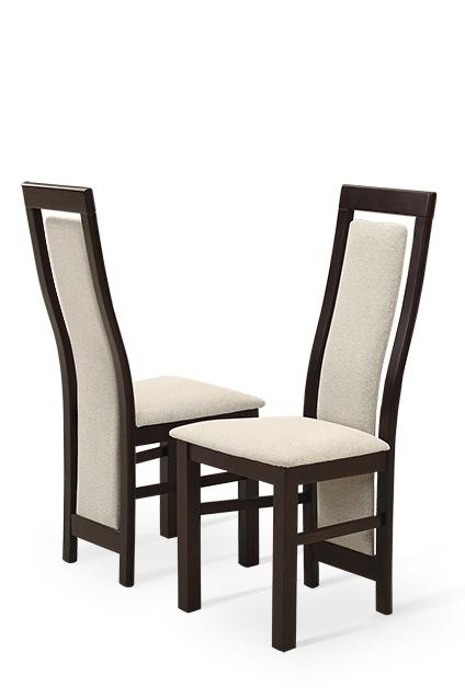 Venus krzesło drewniane tapicerowane z wyprofilowanym oparciem