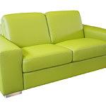 vesta nowoczesna sofa z zielonej skóry