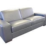 Vesta sofa skórzana szara