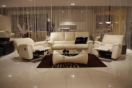 Vito biały skórzany komplet mebli wypoczynkowych do salonu biała sofa skórzana fotele z relaxem