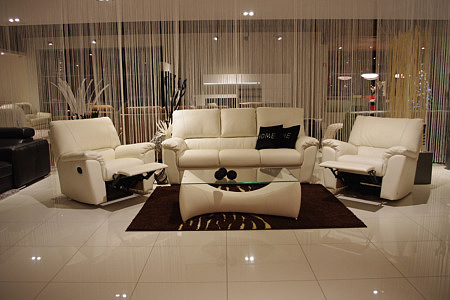 Vito - eleganckie meble wypoczynkowe do salonu, komplet wypoczynkowy 3+1+1, w skład zestawu wchodzi sofa 3-osobowa i dwa fotele