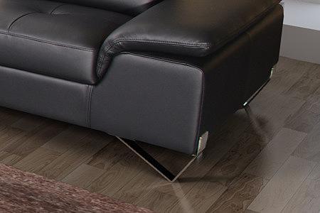 Volare detale metalowe nogi w sofie skórzanej