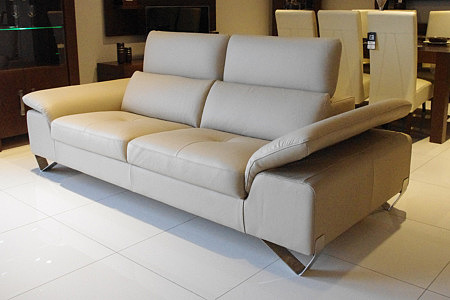 Volare sofa skórzana z metalowymi nogami