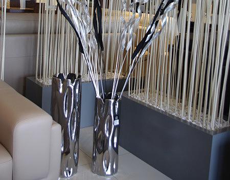 wazon metalowy do stawiania na podłodze