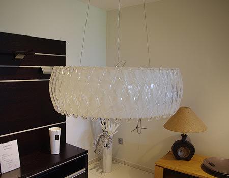 żyrandol szklany kryształowy
