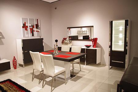 artvision aranżacja zestawu białych nowoczesnych mebli do salonu