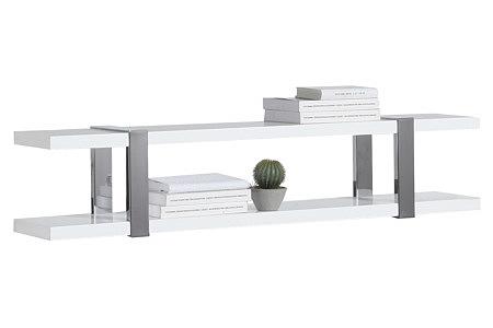 artvision biała półka wisząca wsporniki metalowe aluminiowe
