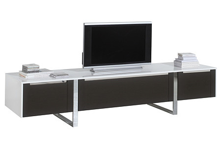 artvision biała szafka rtv pod telewizor metalowe nogi fron wenge