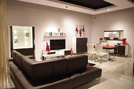 artvision nowoczesne białe meble do pokoju dziennego