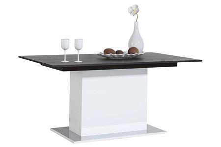 artvision stół na jednej nodze biała podstawa blat wenge