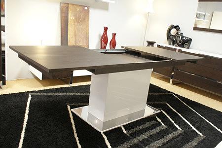 artvision stół rozkładany na jednej nodze biały wenge
