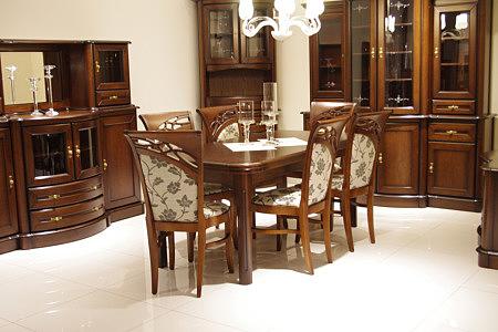 atena klasyczne meble dębowe do salonu