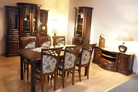 atena klasyczne meble dębowe do stylowego salonu