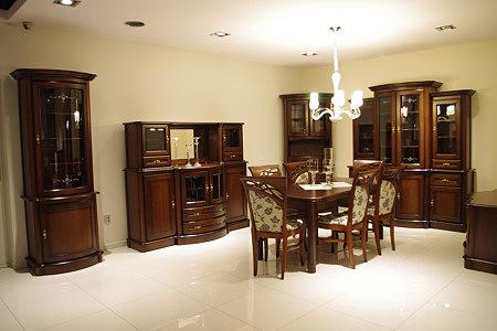 Kolekcja salon Atena pokój dzienny eleganckie meble dębowe do klasycznego salonu