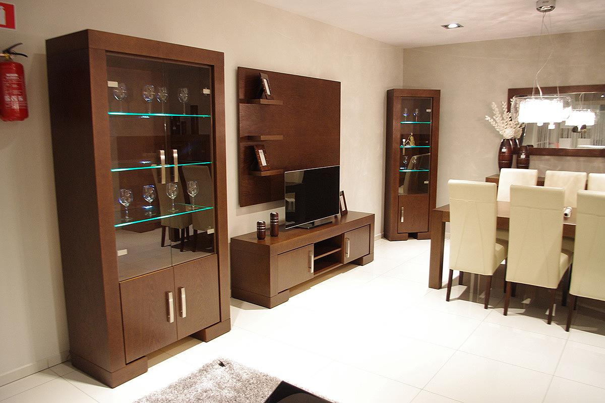 Kolekcja salon Barcelona pokój dzienny meble dębowe okleina