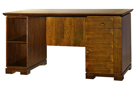 cassetti biurko styl klasyczny orzech amerykański