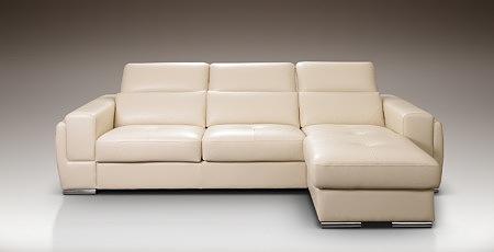 Diva biała sofa ze skóry mini