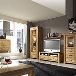 Kolekcja salon Faro pokój dzienny komplet mebli z dębiny sękatej z naturalną woskowaną i olejowaną powierzchnią wyraźny rysunek drewna