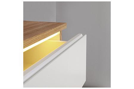 futureline frezowany uchwyt szuflady białej podświetlenie