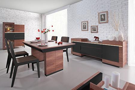 futureline meble do jadalni pokoju dziennego orzech brązowe